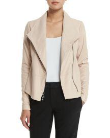 Leather Scuba Jacket at Bergdorf Goodman