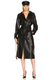 Leather Trench Coat at Forward