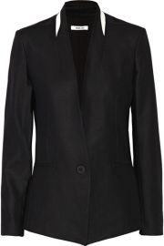 Leather Trimmed Blazer by Helmut Lang at Net A Porter