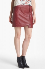 Leather Wrap Skirt at Nordstrom