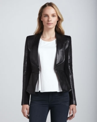 Leather and Ponte Jacket by Rebecca Minkoff at Neiman Marcus