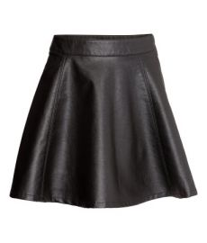 Leather circle skirt at H&M