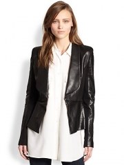Leather combo blazer by Rebecca Minkoff at Saks Fifth Avenue