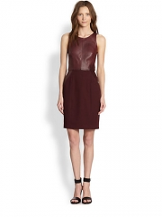 Leather dress by Sachin and Babi at Saks Fifth Avenue