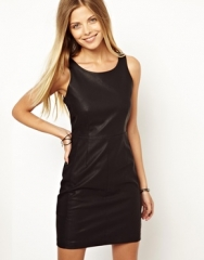 Leather dress by Vero Moda at Asos