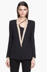 Leather lapel jacket by Helmut Lang at Helmut Lang