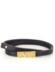 Leather lock belt by Lizzy Disney at Avenue 32