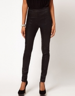 Leather look pants at Asos