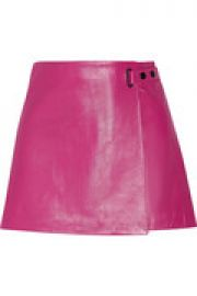 Leather mini skirt at The Outnet