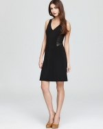 Leather panel dress by Rebecca Taylor at Bloomingdales