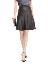 Leather pleated skirt at Banana Republic