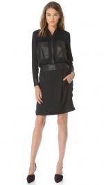 Leather pocket dress by Helmut Lang at Shopbop