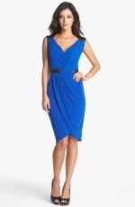 Leather trim dress by Ivy and Blue at Nordstrom