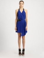 Leather trim dress by Milly at Saks Fifth Avenue