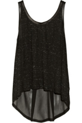 Leather trimmed tank by Enza Costa at The Outnet