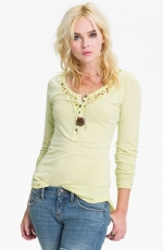 Legacy crochet henley in yellow by Free People at Nordstrom