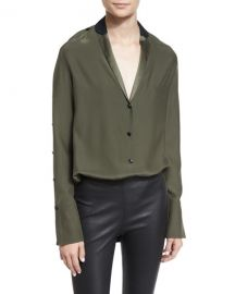 Leighton Two-Tone Silk Satin Tunic by Rag and Bone at Neiman Marcus
