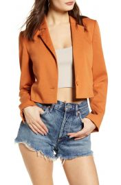 Leith Cropped Blazer   Nordstrom at Nordstrom