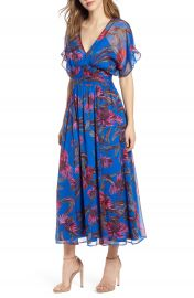 Leith Botanical Print Kimono Sleeve Maxi Dress  Regular  amp  Plus Size    Nordstrom at Nordstrom