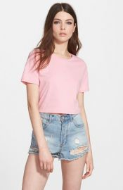 Leith Crop Crewneck Tee at Nordstrom