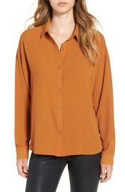 Leith Dolman Sleeve Blouse in Rust Ginger at Nordstrom
