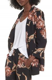 Leith Floral Print Blazer at Nordstrom