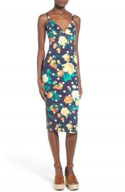 Leith Floral Print Body-Con Dress at Nordstrom