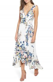 Leith Floral Print Wrap Dress at Nordstrom