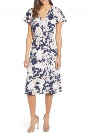 Leith Midi Wrap Dress   Nordstrom at Nordstrom