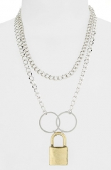 Leith Padlock Chain Necklace at Nordstrom