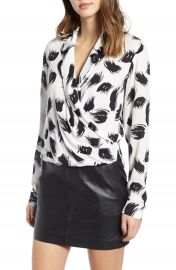 Leith Print Wrap Shirt   Nordstrom at Nordstrom