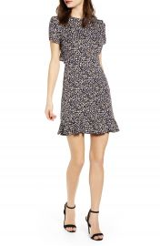 Leith Ruffle Open Back Minidress   Nordstrom at Nordstrom