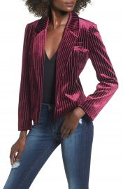 Leith Stripe Velour Blazer at Nordstrom