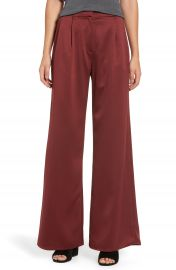 Leith Wide Leg Satin Trousers at Nordstrom