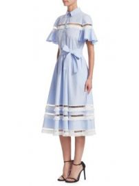 Lela Rose - Cotton Shirt Dress at Saks Fifth Avenue