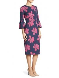 Lela Rose - Floral Jacquard Dress at Saks Fifth Avenue