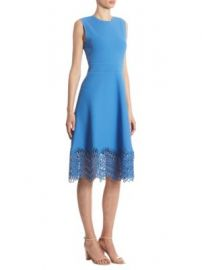Lela Rose - Guipure Lace Dress at Saks Off 5th
