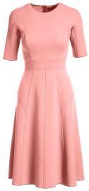 Lela Rose Half-Sleeve Wool Crepe Dress at Bergdorf Goodman