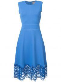 Lela Rose dress with crochet detailing at Farfetch