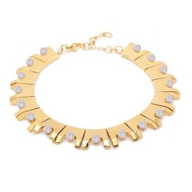 Lele sadoughi Multicolor Beaded Hinge Necklace  at Lele sadoughi