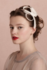 Lemon's bow headband at Bhldn