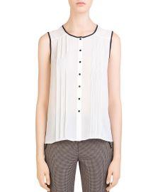 Lena Sleeveless Pleated Shirt at Bloomingdales