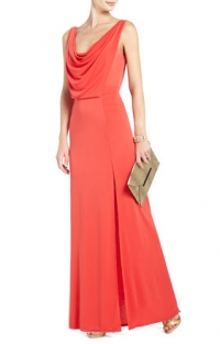 Lena draped gown at Bcbgmaxazria
