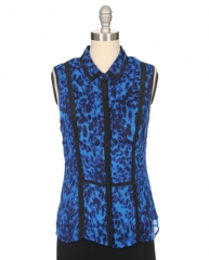 Leona animal print blouse by Greylin at Ron Herman