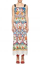 Tile-Print Cotton-Blend Poplin Jumpsuit by Dolce & Gabbana at Barneys