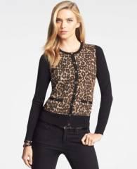 Leopard Print Cardigan at Ann Taylor