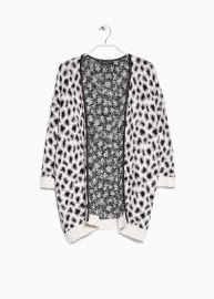 Leopard Print Cardigan at Mango