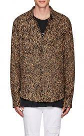Leopard-Print Cotton-Cashmere Shirt by Amiri at Barneys