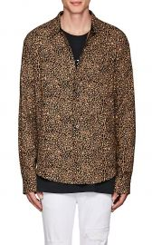 Leopard-Print Cotton-Cashmere Shirt by Amiri at Barneys