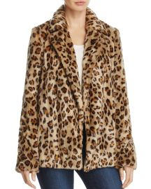 Leopard-Print Faux-Fur Coat at Bloomingdales